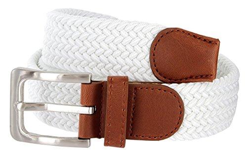 Hagora Men's Braid Rows Fabric Stretchy Leather Element 1-3/8