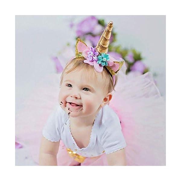 Makadami Unicorn Cake Topper - Unicorn Cake Decorations - Unicorn Cupcake Topper - Unicorn Horn Headband - Unicorn Party… 6