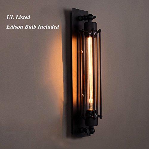 - Vintage Black Wall Sconces Light Includes Edison Bulb, MKLOT Antique Fixture 17.72