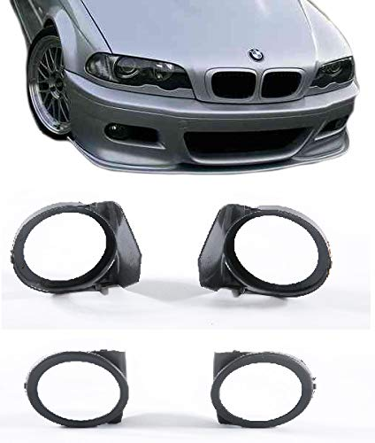 EAX Compatible with BMW E46 M3/330i/330xi/325Ci/325i/325xi 01 02 03 04 05 06 Replacement for Front Bumper Fog Light Lamp Covers Left and Right 2001 2002 2003 2004 2005 2006 Brand