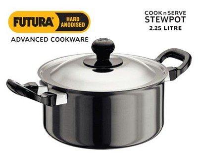 Hawkins/Futura L33 Hard Anodised Cook and Serve Stewpot, - Sauce Pot Futura