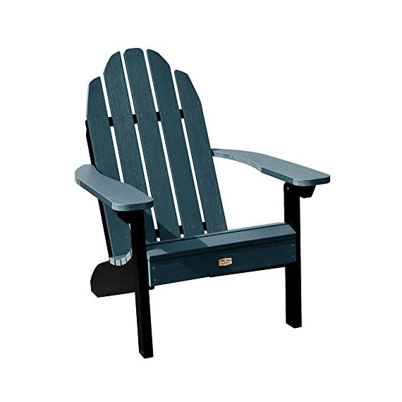 Elk Outdoors EO-CLAS1-SHL The Essential Adirondack Chair, Shale - Proudly and 100% Made in the USA from our own unique synthetic wood in an environmentally-conscious facility Water and weather resistant 500-pound weight capacity - patio-furniture, patio-chairs, patio - 41H9AXxP44L. SS570  -