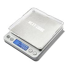 Next-Shine Digital Scale Pocket-Size For Kitchen, Lab,Outdoor 500g x 0.01gram Backlit