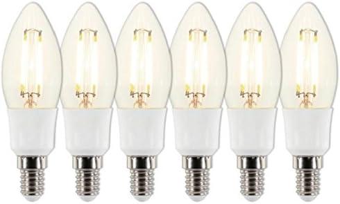 Westinghouse Lighting Bombillas LED con Forma C35 E14, 5 W, Blanco Cálido, Pack de 6 unidades: Amazon.es: Iluminación