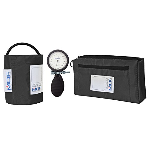 MDF® Bravata® Palm Aneroid Sphygmomanometer - Professional Blood Pressure Monitor with Adult Sized Cuff Included - Black (MDF848XPD-11) (Professional Sphygmomanometer)