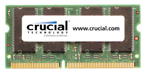 Crucial Technology CT64M64S4W75 512MB 144-Pin PC133 133Mhz SODIMM SDRAM Memory