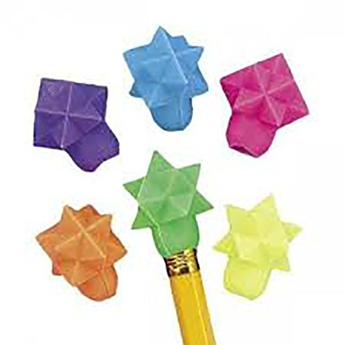 Geometric Star Eraser Top (1-Pack of 144) by Fun Express (Image #1)