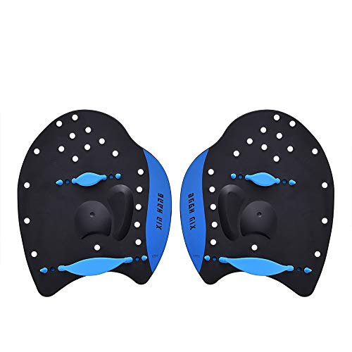 Ationgle Swim Training Paddles Hand Paddles Power Paddles Swimming Training Aid with Adjustable Strap for Men Women Children