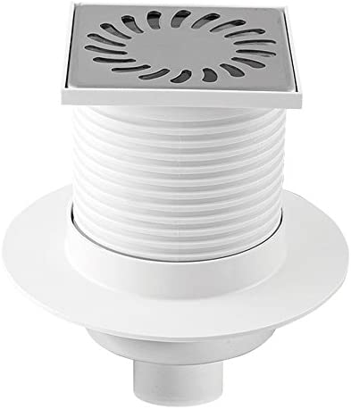 Floor Drain Square Bathroom Wet room Shower Drain 100x100mm///Ø50mm