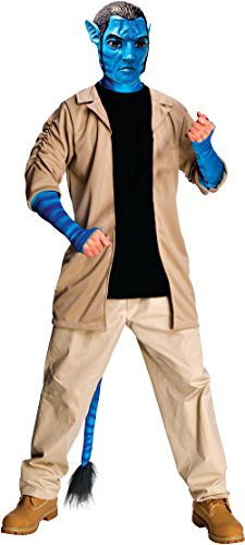 Avatar Adult Deluxe Jake Sully Costume And Mask, Blue, Standard
