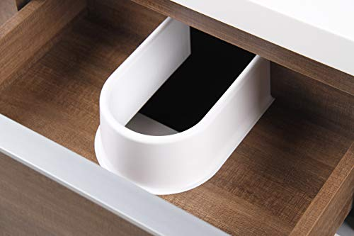 """Dyconn Faucet VCFL36M Nario Collection 36"""" Freefloating Bathroom Vanity with Stone Resin Countertop Basin, Brown - Vanity set: includes base cabinet (with two drawers / two doors) and countertop basin High-grade construction: made of high-density wood fibers to achieve outstanding durability and stability for prolonged use Pre-drilled 1 3/8 faucet hole and 1 7/10 drain hole for additional convenience - bathroom-vanities, bathroom-fixtures-hardware, bathroom - 41H9Cm%2BoToL -"""