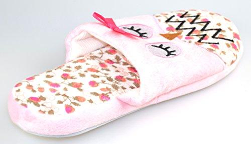 Unbekannt - Zapatillas de estar por casa de tela para mujer rosa - rosa