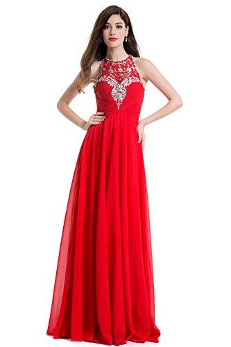 MISSYDRESS Kleid Rot Linie A Damen Rot rwgPRrq
