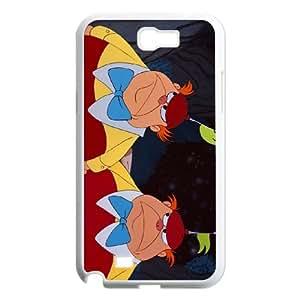 Samsung Galaxy N2 7100 Cell Phone Case White Disney Alice in Wonderland Character Tweedledum and Tweedledee Wgtff