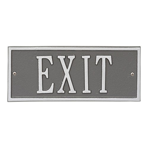 Whitehall Personalized Cast Metal Address Plaque - Small Hartford Custom House Number Sign - 10.5'' x 4.25'' - Allows Special Characters - Pewter/Silver by Whitehall (Image #1)