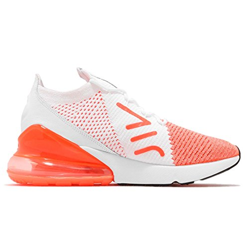 NIKE Women's WMNS Air Max 270 Flyknit, Crimson Pulse/White, 7 US