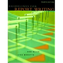 Guidelines for Report Writing (4th Edition)