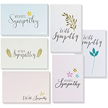 Amazon sympathy cards 48 pack sympathy cards bulk greeting sympathy cards 48 pack sympathy cards bulk greeting cards sympathy 6 floral thecheapjerseys Choice Image