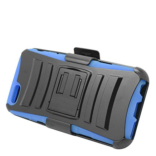 Belt Clip Faceplate Blue (Eagle Cell Hybrid Protective Carrying Case Stand and Belt Clip Holster for Apple iPhone 6 - Retail Packaging - Blue/Black)