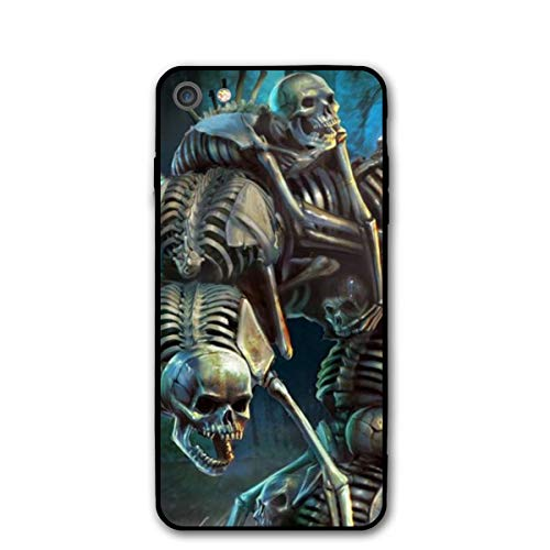 Wicca Samhain Skull Halloween Dancing Skeleton iPhone 7 8 Plus 7plus 8plus Phone Case Cover Theme Decorative Mobile Accessories Ultra Thin Lightweight Shell Pattern Printed Ornament Decorations - Halloween Dancing Skeleton