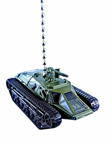 ARMY, NAVY, MARINES, AIRFORCE Diecast Vehicle Ceiling Fan Light Pulls, Christmas Ornaments, Keychains - (RIPSAW EV2 - ARMY ()