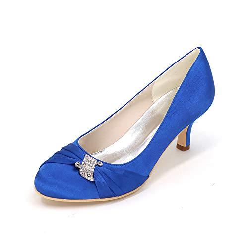 Mi Soir 1195 bas Sandales Taille 22 Demoiselle Blue Flower Nuptiale D'honneur Mariage Talon Bal De Womens ager Dames Chaussures SpCwvC