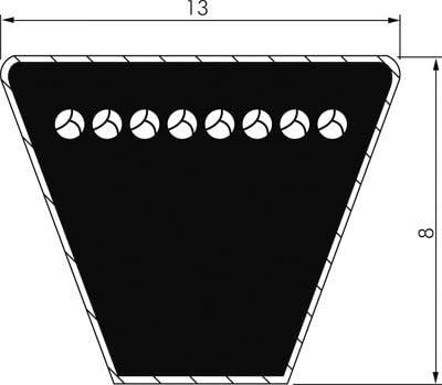 A55 li 1,400 mm LD Correa trapezoidal DIN 2215 A//13 x 8 c/ódigo 1,430 mm