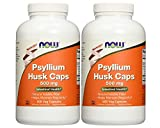 Now Foods Psyllium Husk 500mg (. 2Pack (500Vcaps Each))