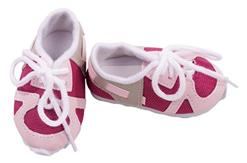 Gotz Pink Tennis Shoes for 18