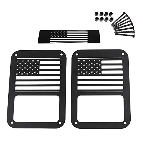 RT-TCZ Tail Light Guards Covers Brake Light Cover for Rear Taillights 2007-2017 Jeep Wrangler JK Unlimited Accessories (US - Rear Brake Guard