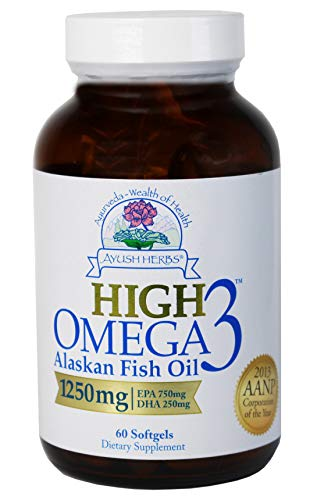 Ayush Herbs High Omega-3 Herbal Supplement, 60 -