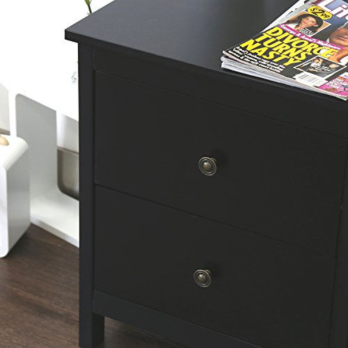 Kinbor-Bedroom-furniture-Black-Night-Stand-Table-with-Double-Drawers-and-Cabinet-for-Storage