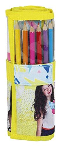 Amazon.com: Soy Luna 27 Pieces Roll-Up Pencil Case (Safta ...