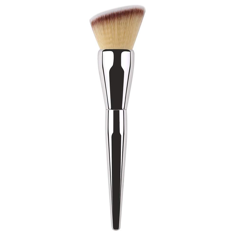 Foundation Brush Makeup Large Angled Top Powder Brush Face Brush for Stippling Liquid Cream Powder Foundation Blending Buffing.