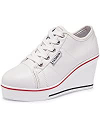 Women's Canvas Shoes Wedge Heeled Platform Sneaker Fashion Pump Shoes