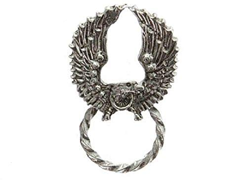 "ShopForAllYou pins and brooches (#P03) WINGED EAGLE Pewter Vest 1-1/4"" x 1-3/8"" Sunglass Hanger Pin Biker Jacket from AllButtons"