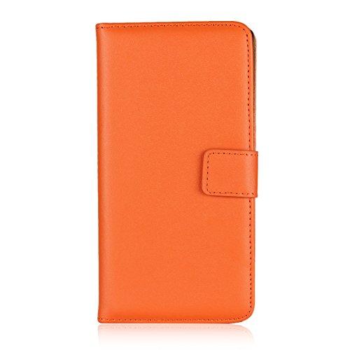 Sony Xperia XZ/XZsケース XZ SO-01J/SOV34/601SO XZs SO-03J/SOV35/602SO ケース Cavor 本革ケース[ウォレット機能]アップル Sony Xperia XZ/XZsケース XZ SO-01J/SOV34/601SO XZs SO-03J/SOV35/602SO 用のカードスロット付き磁気閉鎖フリップスタンドBookstyleカバー (オレンジ)