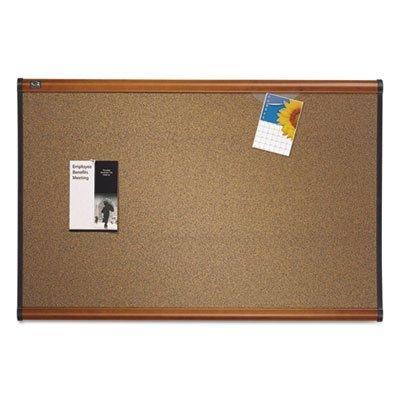 Prestige Bulletin Board, Brown Graphite-Blend Surface, 48 x 36, Cherry Frame, Sold as 1 Each
