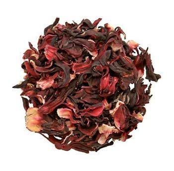 Hibiscus flower. 100% Natural Dried Hibiscus Flower Cut & Sifted, 1 Pound Bulk Bag. 100% raw for perfect Hibiscus Tea or a cold - Drink Flower