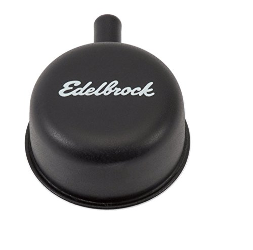 Edelbrock 4413 Valve Cover Breather Round 2.25 in. Tall w/90 deg. PVC Port Fits Any 1.25 in. Valve Cover Hole Black Finish Valve Cover Breather