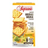 Club Supreme Premium Snacks - Oven Baked Crisp Wheat Crackers 150g (6 Individually Wrapped 25g Bags) - Original Flavour - Source of Calcium - Halal