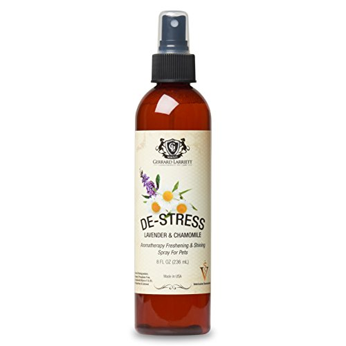 Lavender & Chamomile Aromatherapy Freshening & Shining Spray for Pets, Dog Grooming Spray & Pet Odor Eliminator - 8 fl oz (236 ml) - Lavender Dog Spa