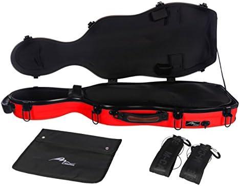 Estuche de viola fibra Ultra Light 38-43 Rojo M-Case: Amazon.es: Instrumentos musicales