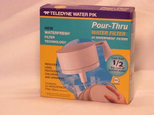 Teledyne Water Pik WR-1 24pk WaterFresh Replacement Filters Pour Thru (Disk Pitcher Water)