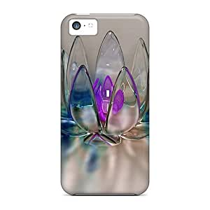 LJF phone case Unique Design ipod touch 5 Durable Tpu Case Cover Crystal Flower