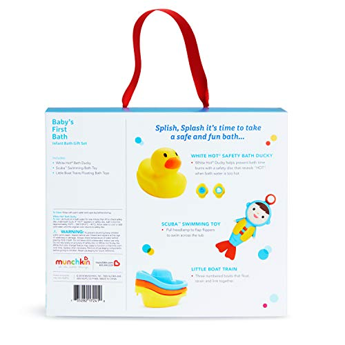 41H9Imx1bgL - Munchkin Baby's First Bath, 3 Piece Bath Toy Gift Set, Bath Gift Set