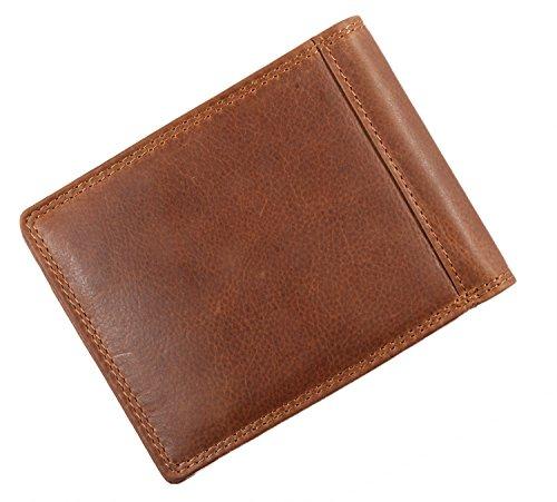Pranke ECHT Leder Geldbörse Geldbeutel Herren Portemonnaie Brieftasche handgemacht in Braun