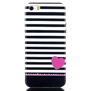 Swajinxi Simple Pattern Soft Flexible TPU Gel Skin Bumper Protective Case Slim Cover Fit For Apple iphone 5 5S