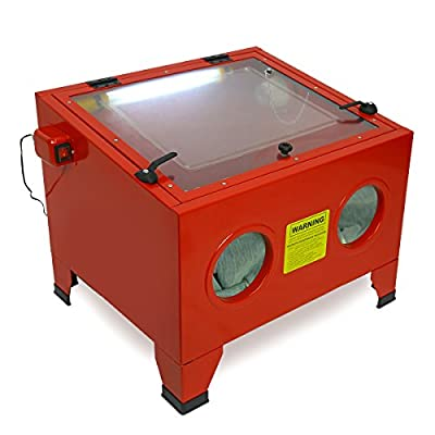 25 Gal Bench Top Sand Blaster Air Sandblast Cabinet