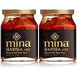 Mina Harissa Mild Moroccan Red Pepper Sauce, 10 Oz Jar (Pack of 2, Total of 20 Oz)